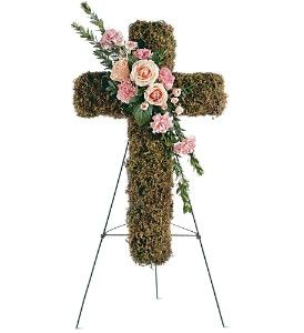 Pink Bouquet Cross