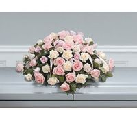 Soft and Beautiful Roses Casket Spray
