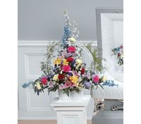 Bright Tribute Container Arrangement