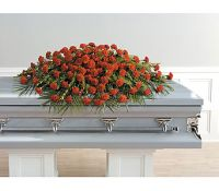 Red Carnation Full Casket Spray