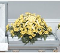 Yellow Daisy Casket Spray