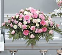 Pink and Proper Casket Spray