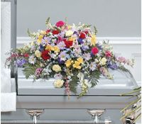 Bright Tribute Casket Spray