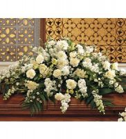 Pure White Casket Spray