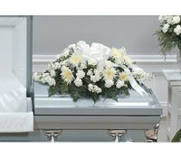 Simply White Casket Spray